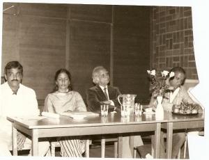 Saeeda Gazdar & Sibte Hasan in Stockholm, 20 Aug 1985 or 1986.