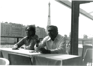 A rare trip abroad: Mazhar and Sarwar, Paris 1978