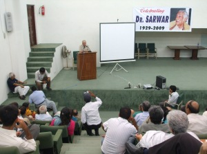 At Dr Sarwar's Reference, Aug 8, 2009: Abid Hasan Minto gives a lively account of the DSF struggle