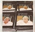 Copies of the booklet 'Celebrating Dr Sarwar' published by the Labour Party Pakistan on a table outside the hall. Photo: Daily Times