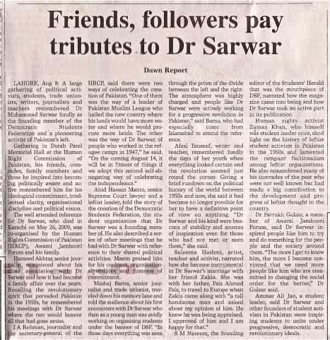 Sarwar Dawn Aug 9 09